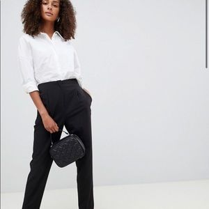 ASOS charcoal Pleated Trouser NWT pants bottoms 6
